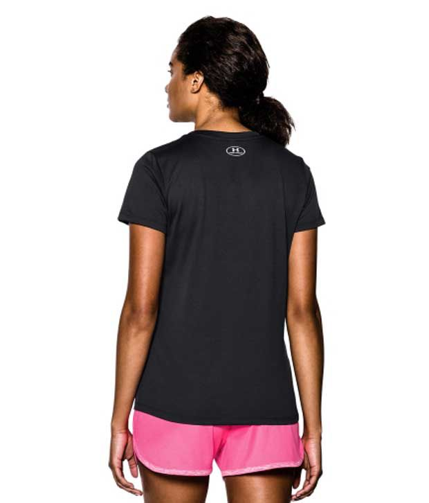Under Armour Under Armour Women's Tech V-neck Short Sleeve Shirt, Afterglow