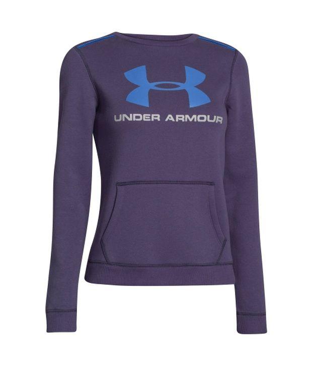 Under Armour Under Armour Women's Rival Crewneck Sweater, Twi Purple/sailing Blue