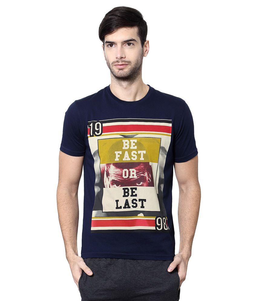Ajile by Pantaloons Navy Round Neck T Shirt
