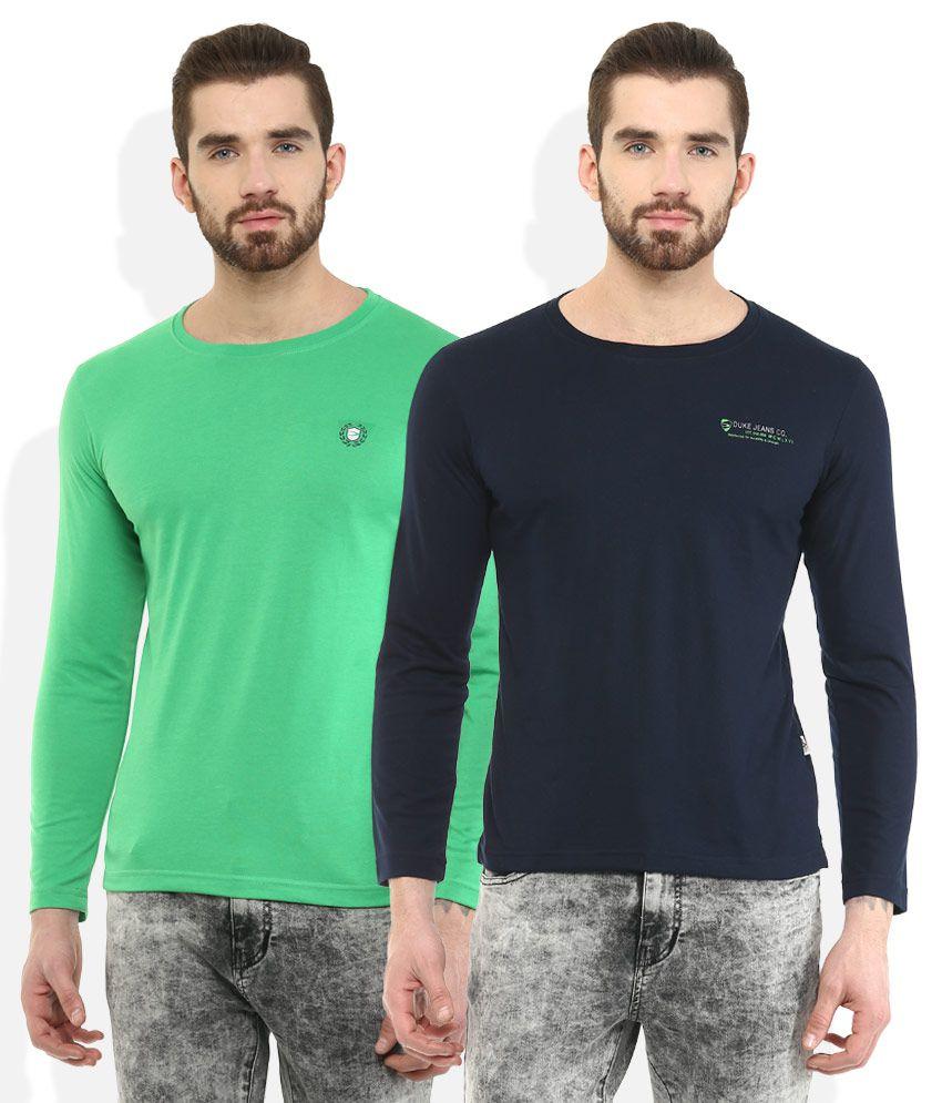 DUKE Multi Colored Pack of 2 T-Shirts