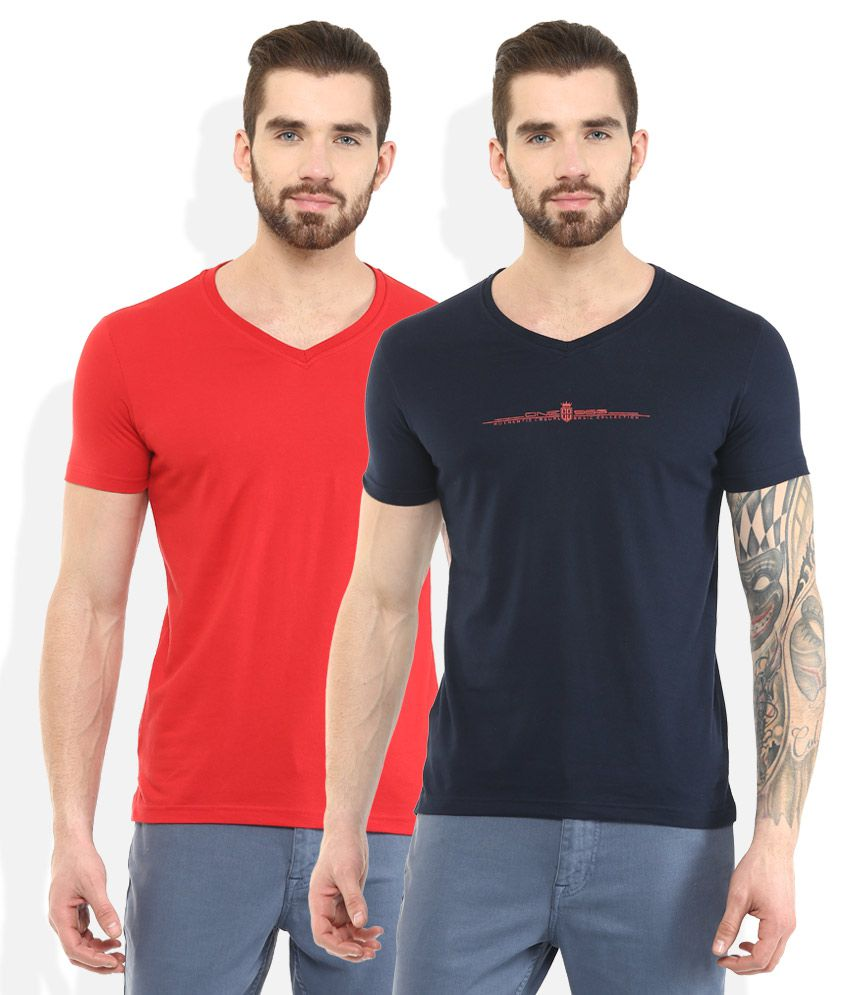 DUKE Multi Colored Pack of 2 T-Shirts