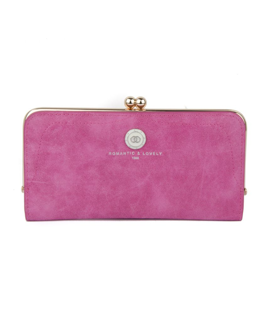 Ilu Pink Leather Wallet For Women