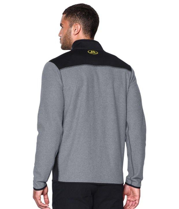 Under Armour Men's ColdGear Infrared Quarter Zip Survival Fleece Long Sleeve Shirt Deep Red/Black