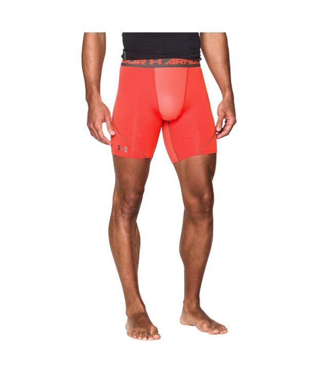 Under Armour Men's HeatGear Armour Stretch Compression Shorts Bolt Orange/Graphite