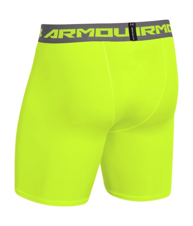 Under Armour Men's HeatGear Armour Compression Shorts - Mid Midnight Navy/Steel