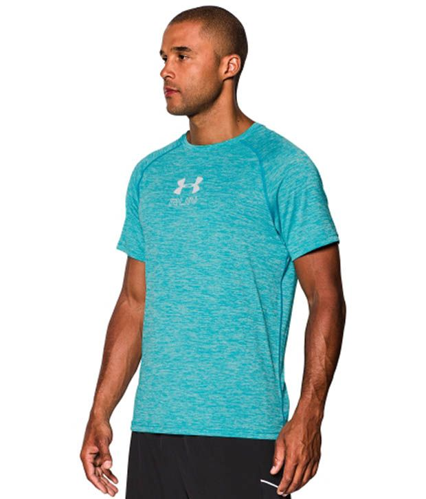 Under Armour Men's Run Twist Print T-Shirt, Red/Wire