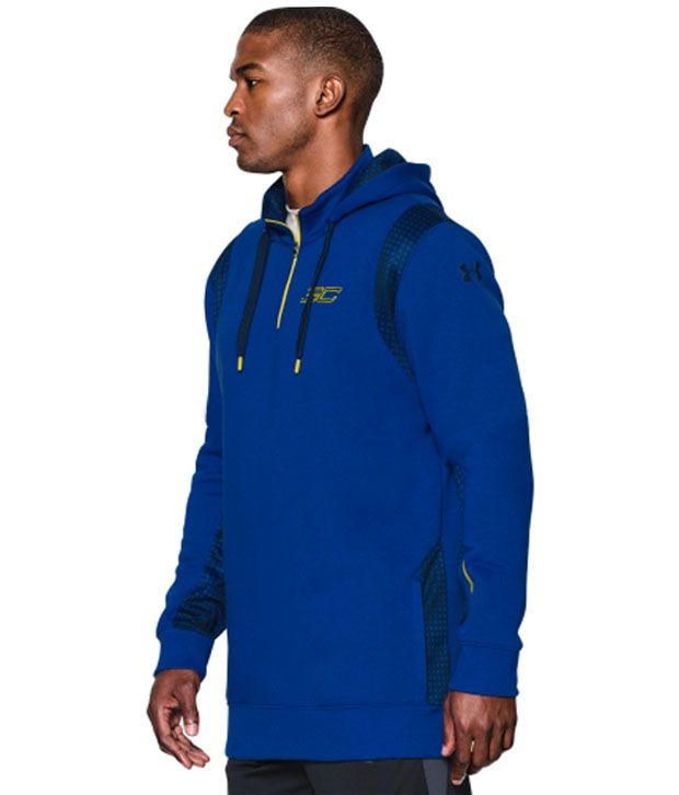 Under Armour Men's SC30 Quarter Zip Basketball Hoodie Royal/Academy