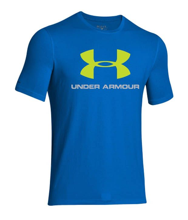 Under Armour Men's Sportstyle Logo Graphic T-Shirt, Stealth Gray/Hyper Green