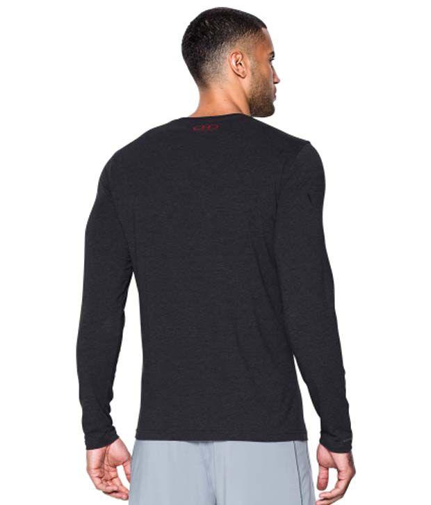 Under Armour Men's Sportstyle Long Sleeve Shirt, Black/Steel