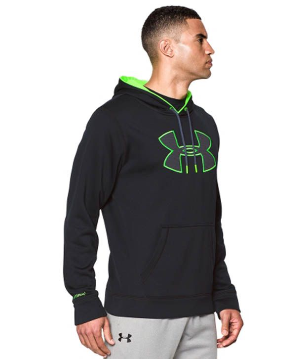 Under Armour Men's Storm Armour Fleece Big Logo Hoodie Legion Blue/Hi Vis Yellow