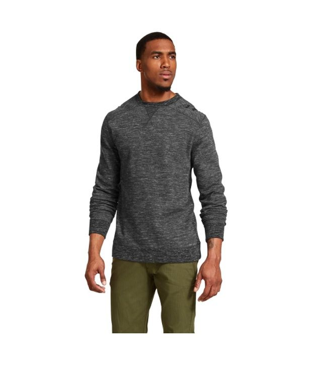 Under Armour Men's Storm C1N Signature Crewneck Sweatshirt True Gray Heather/Black