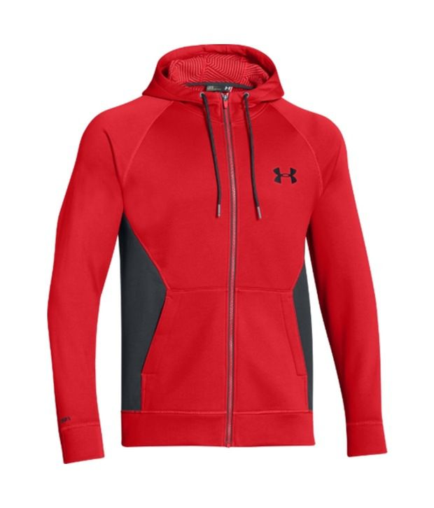 Under Armour Men's Storm ColdGear Infrared Full Zip Hoodie True Gray Htr/Gph/Volcano