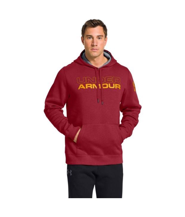 Under Armour Men's Undisputed Cotton Hoodie Scatter/Risk Red