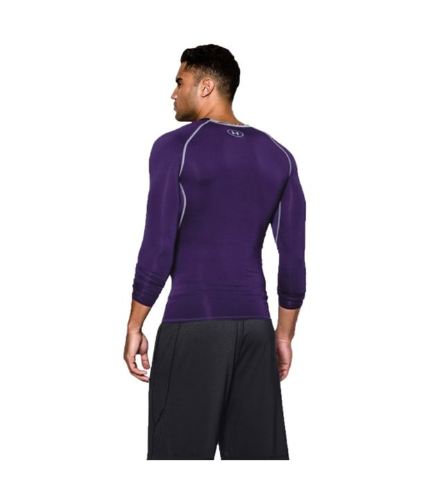 Under Armour Under Armour Men's Heatgear Armour Long Sleeve Compression Shirt, Bolt Orange/academy