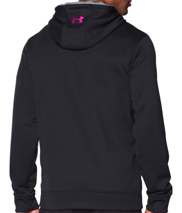 Under Armour Under Armour Men's Power In Pink Storm Armour Fleece Big Logo Hoodie, Black/steel