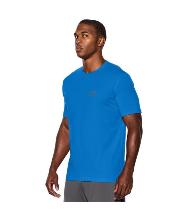 Under Armour Under Armour Men's Charged Cotton Sportstyle T-shirt, Graphite/bolt Orange