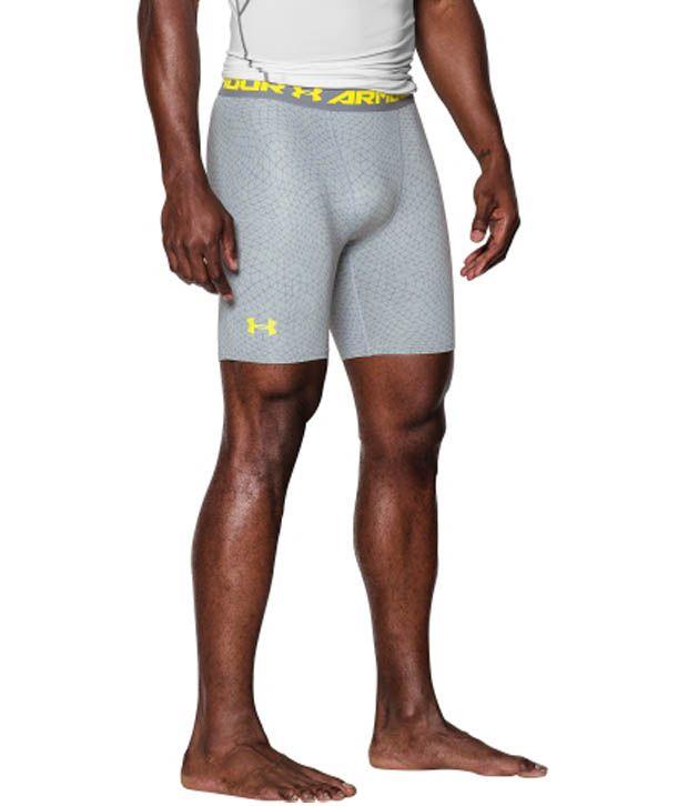 Under Armour Under Armour Men's Heatgear Armour Apex Print Compression Shorts, Stealth Grey/black