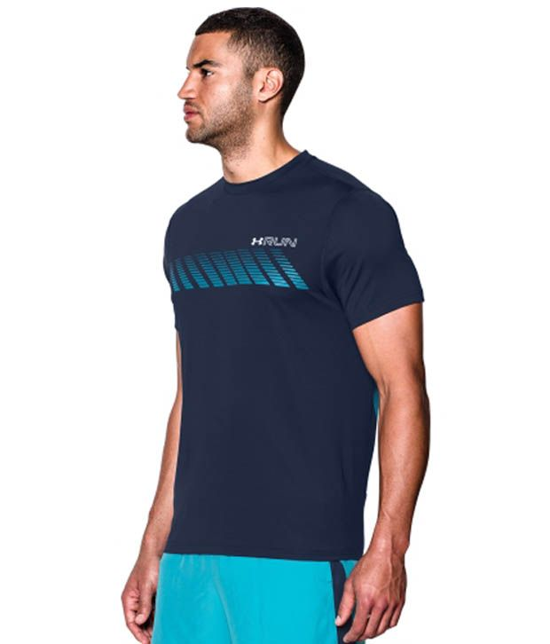 Under Armour Under Armour Men's Heatgear Armourvent Apollo Running T-shirt, Academy/pacific