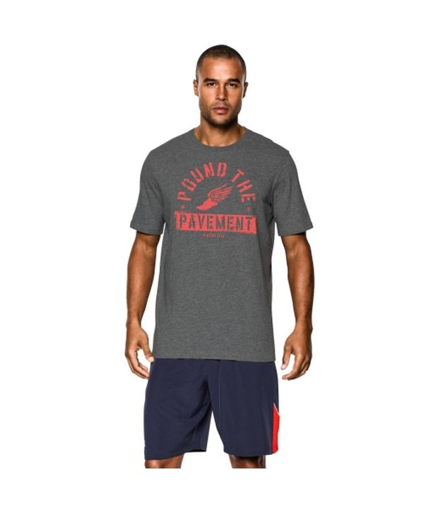 Under Armour Under Armour Men's Pound The Pavement Graphic T-shirt, Carbon Heather