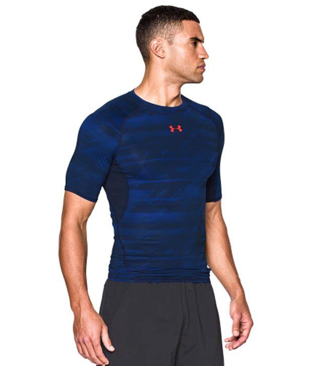 Under Armour Under Armour Men's Heatgear Armour Launch Print Compression T-shirt, Bolt Orange/academy