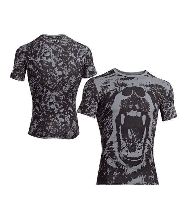 Under Armour Under Armour Men's Alter Ego Bear Compression Short Sleeve Shirt, Steel/steel