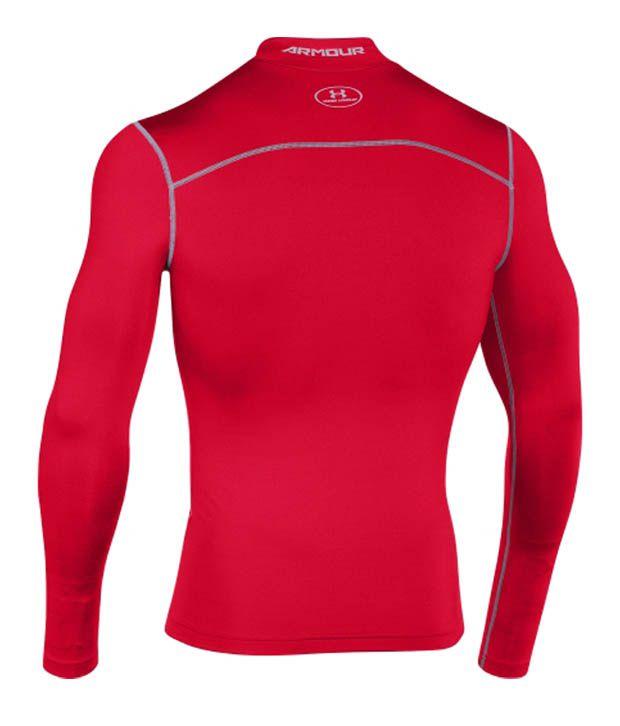 Under Armour Under Armour Men's Coldgear Armour Compression Mock Neck Long Sleeve Shirt, Cobalt/bolt Orange