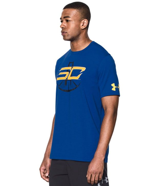 Under Armour Under Armour Men's Zone In Graphic Basketball T-shirt, Royal/sunbleached