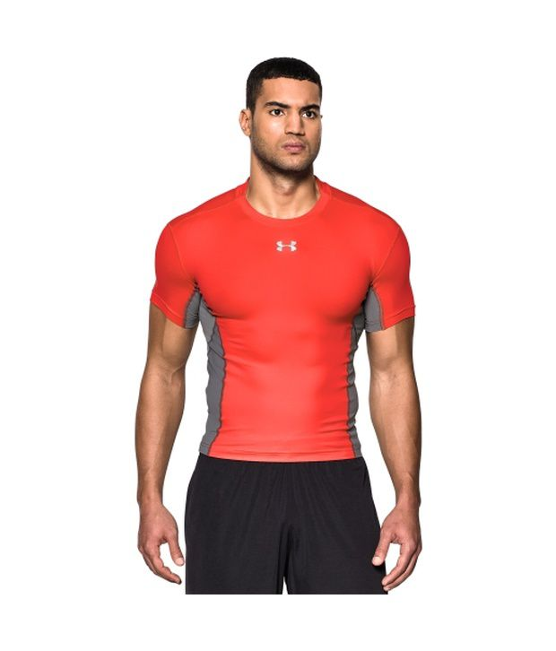 Under Armour Under Armour Men's Heatgear Armour Stretch Short Sleeve Compression Shirt, Black/island Blues