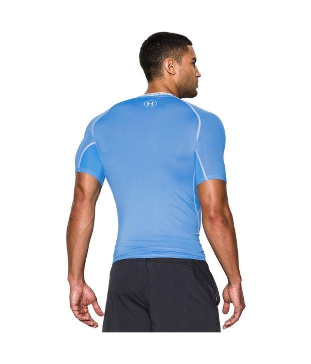 Under Armour Under Armour Men's Heatgear Armour Compression Short Sleeve Shirt, Carolina Blue