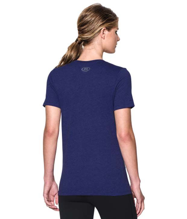 Under Armour Under Armour Women's Charged Cotton Tri-blend Wordmark V-neck T-shirt, Graphite