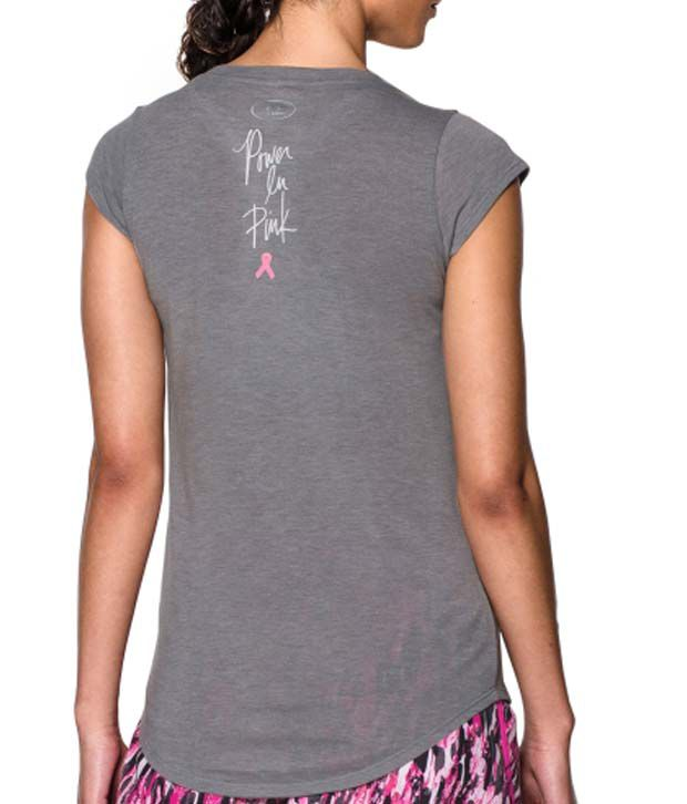 Under Armour Under Armour Women's Power In Pink Big Ribbon Graphic T-shirt, Cerise