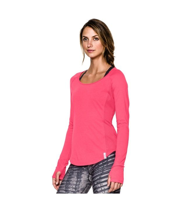Under Armour Women's Fly-By Long Sleeve Shirt Cyber Orange