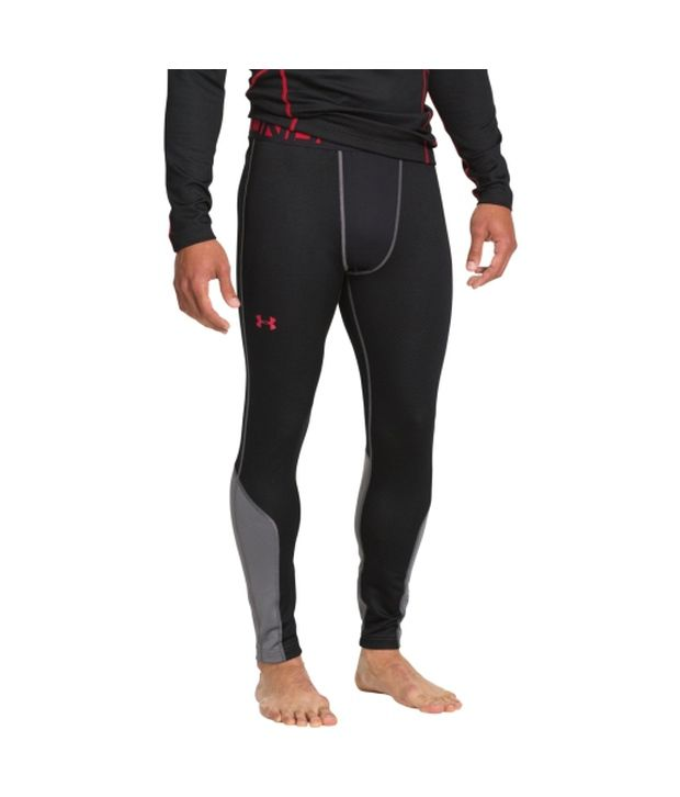 Under Armour Under Armour Men's Coldgear Infrared Thermo Leggings, Black/risk Red