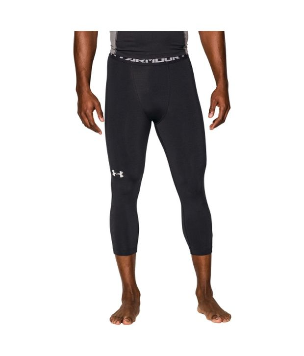 Under Armour Under Armour Men's Heatgear Armour Three Quarter Length Compression Leggings, Black/steel