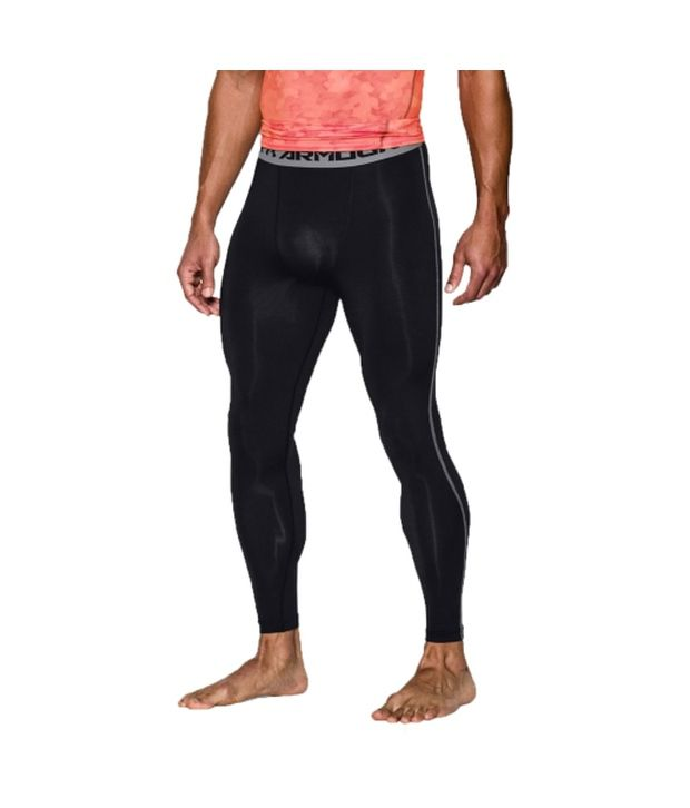 Under Armour Under Armour Men's Heatgear Armour Compression Leggings, Tanstone/red