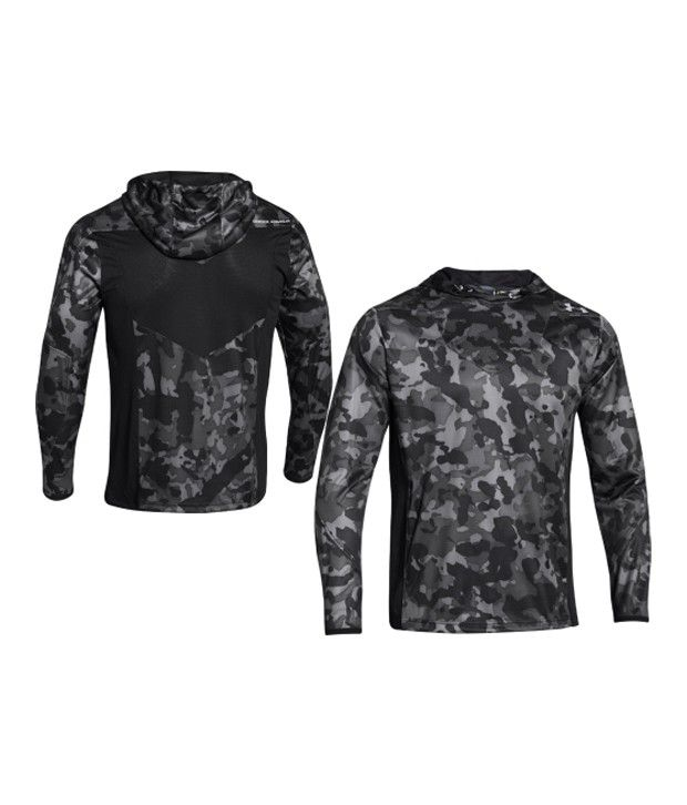 Under Armour Under Armour Men's Undeniable Heatseeker Shooting Hooded Long Sleeve Shirt, Black/graphite/steel