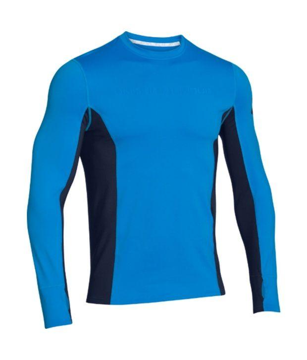 Under Armour Under Armour Men's Combine Training Coldgear Long Sleeve Shirt, Black/black/velocity