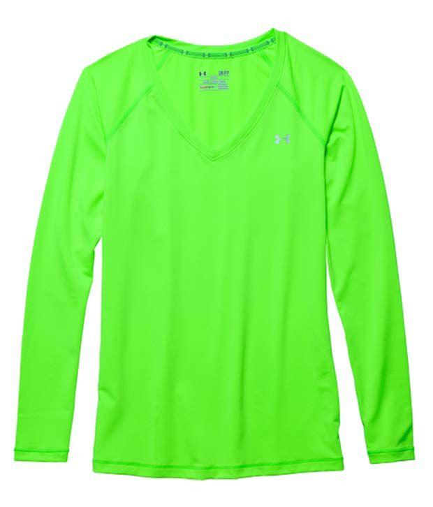 Under Armour Under Armour Women's Heatgear Armour Long Sleeve Shirt, Hyper Green