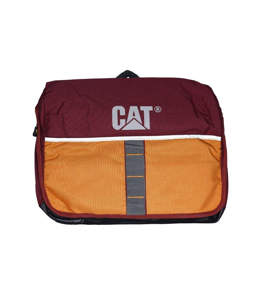 Cat Pink And Orange Laptop Bag