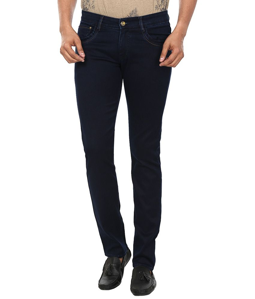 99 Degrees Navy Blue Slim Fit Jeans