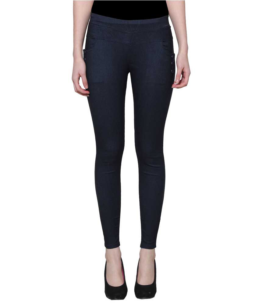 Lgc Navy Poly Cotton Jeggings