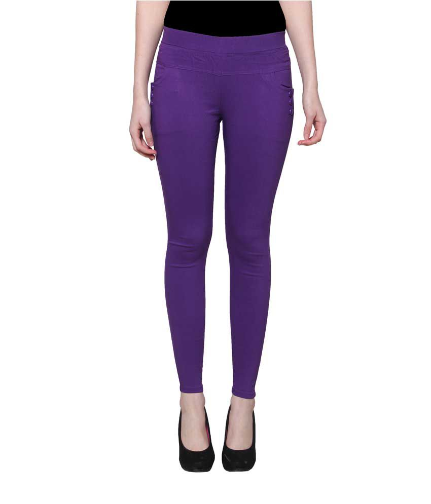 Lgc Purple Poly Cotton Jeggings