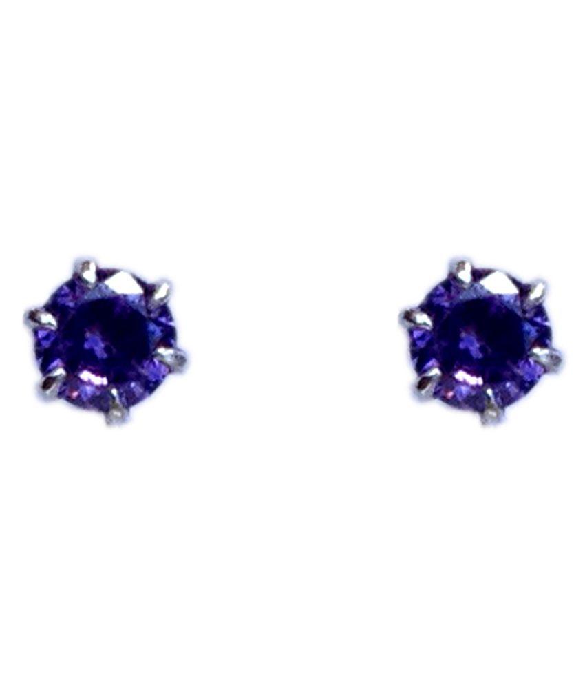 Milan 92.5 Silver Stud Earrings