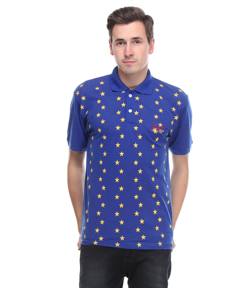 Opg blue half sleeve polo t shirt buy opg blue half for Full sleeve t shirts online