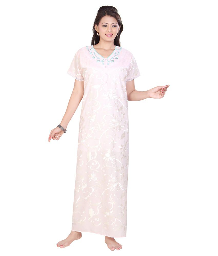 670ebd4d212 Buy Sleeping Story Multi Color Cotton Nighty Online at Best Prices in India  - Snapdeal