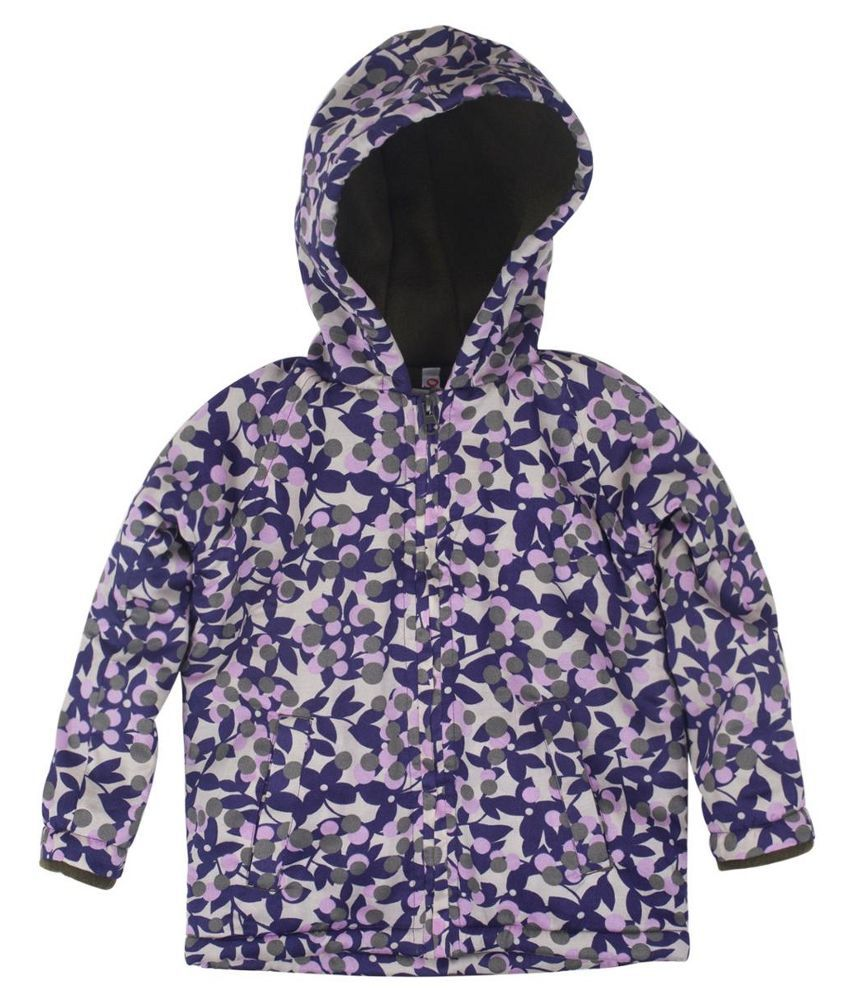 Oye Purple Cotton Jacket For Girls