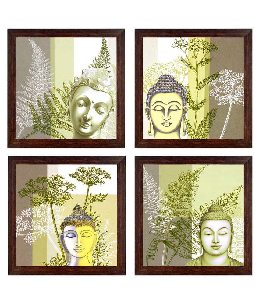 Ray Decor Multicolour Religious Painting - Set Of 4