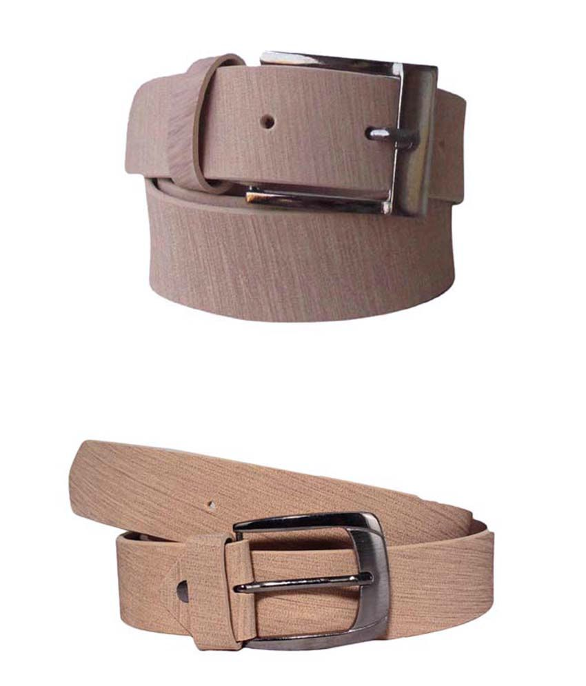 Klaska Combo of 2 Belts in Tan