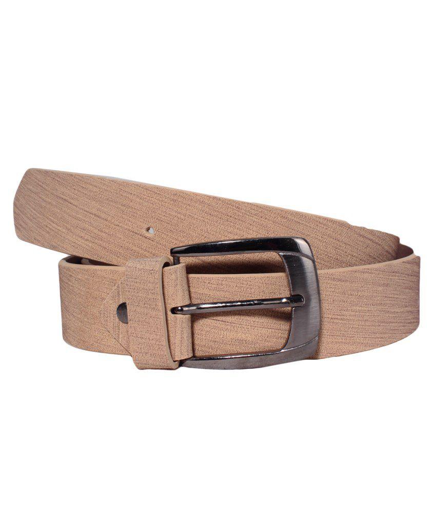 Klaska Sophisticated Tan Casual Belt For Men