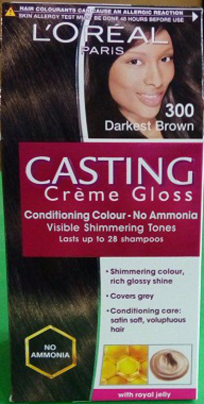 buy loreal paris casting creme gloss hair color dark brown 300 get a trendy pouch free - L Oral Gloss Color